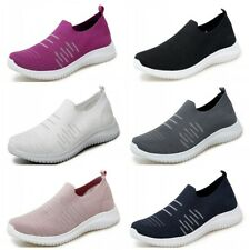 Slip On Breathable Women Lightweight Fitness Sport Sneakers Shoes Gym Athletic D
