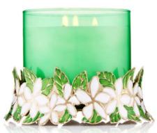 BATH & BODY WORKS FLOWERS WREATH PEDESTAL LARGE 3-WICK  CANDLE HOLDER SLEEVE