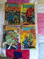 "Vintage Set Of 4 ""DC Comic's Blackhawk"" Comic Books"
