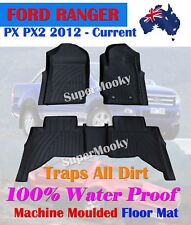 Ford Ranger PX PX2 2012 - Current Rubber Floor Mat Rubber Fully Machine Moulded