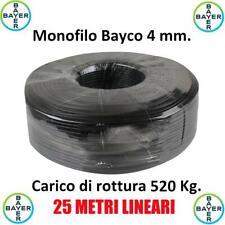Monofilo 25 Metri Bayco 4 mm Tirante Antenne Tralicci Bayer Indistruttibile