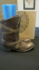 FIVE WORLDS by CORDANI QUEENTIA SHORT BROWN LEATHER BOOTS SIZE 9 NWB