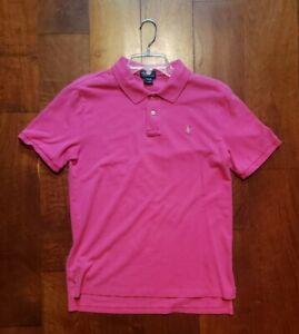 Polo Ralph Lauren Shirt Boys Size XL Pink Collared Short Sleeve 2 Buttons
