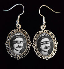 SEX PISTOLS Antique Silver Drop Earrings God Save The Queen CD LP Punk