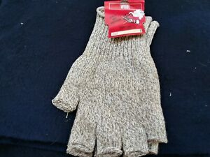 Fingerless Wool Gloves Extra Large