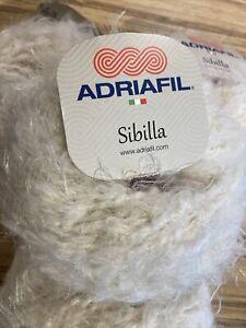Sibilla Chunky Soft Yarn By Adriafil 4 X 50g Balls In Cream (050)
