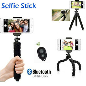 Smartphone Handy Stativ Selfie Stick Tripod Klemmstativ Ständer Halter Bluetooth