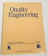 QUALITY ENGINEERING VOL 9 NO 4 1997 AMERICAN SOCIETY FOR QUALITY taylor francis