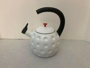 Golf Ball Tea Kettle - Teapot Whistling Teapot - Enamel Metal 2.5 quart