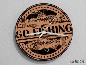Go Fishing Wall Clock