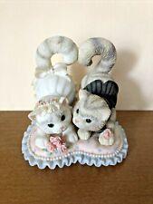 """1999 Enesco Calico Kittens """"Tail Me You Love Me"""" Priscilla Hillman Cat Figurine"""
