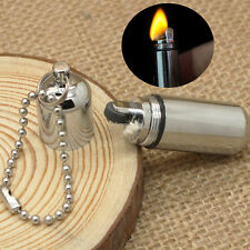 1Pc Gear Fire Stash Waterproof Survival Lighter Keyring Camping Pocket Key Chain