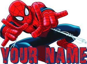 SPIDERMAN SUPERHERO AVENGERS PERSONALISED WALL STICKER DECO DECAL