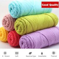 100g Chunky Milk Cotton Yarn Bulky Arm Knitting Wool Crocheting DIY Hat Scarf