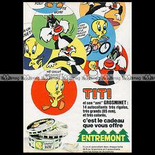 ENTREMONT Fromage en Portions TWEETY BIRD (TITI) 1974 Pub Publicité Ad #A1231