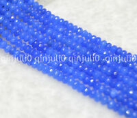 2x4mm Faceted Sapphire Gemstone Rondelle Loose Beads 15inch JL225