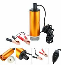 12V 38mm Diesel Fuel Water Car Aluminium Submersible Transfer Pump Filtered Gold