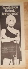 Blondie Rip her to Shreds  1977 press advert 14 x 38 cm poster