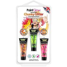PaintGlow UV Chunky Glitter Face and Body GEL - Carnival Chaos