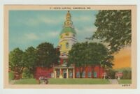 Unused Postcard State Capitol Annapolis Maryland MD