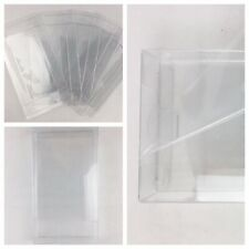 5 VHS Clear Plastic Slip on Covers Box Protectors  11Mil Polyester Archival