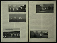 Cambridge v Oxford Ubiversity Sports Athletics 1897 3 Page Photo Article