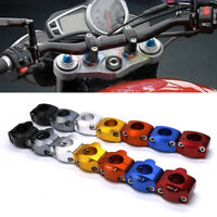 2pcs 7/8'' 22mm Aluminum Motorcycle Handlebar Handle Bar Mount Riser Clamps