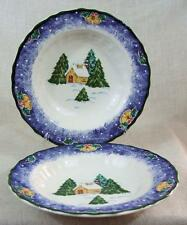 Two MIKASA - COUNTRY CLASSICS - DD012 - SLEIGH BELLS - RIMMED SOUP BOWL'S