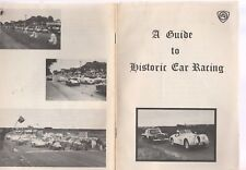 GUIDE TO HISTORIC CAR RACING, CONFEDERATION OF AUSTRALIAN MOTOR SPORT,SEPT. '81
