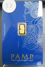 Pamp Suisse 1 Gram Gold Bar 999.9 Original Assay Sealed Card