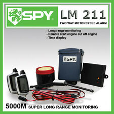 New SPY LM211 5000m Two Way Motorcycle Alarm with Remote Start