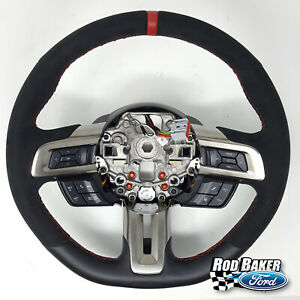 18 thru 2020 Mustang Ford OEM Leather / Suede Shelby GT350R Steering Wheel