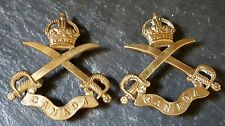 Canadian Physical Instructors Collar Badges Large Curved Ribbon