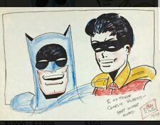 Bob Kane (1915-1998) Batman And Robin mixed media on paper