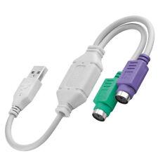 USB Adapter auf 2x PS/2 für Tastatur + Maus für Win 2000 XP VISTA Win 7 8 MacOS