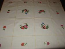 Schöne Mitteldecke-Handarbeit-Stickerei-Blumen-Tischdecke