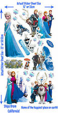 Disney FROZEN ELSA ANNA WALL DECAL Olaf KRISTOFF Sven Hans LICENSED 19 STICKERS