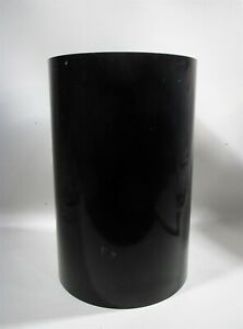 1970s Midcentury KARTELL Black Cylinder Waste Trash Can Planter Gino Colombini