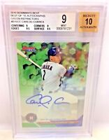 Bowman's Best Carlos Correa Autograph REFRACTOR AUTO 27/99 BGS 9/10 .5 from 9.5!