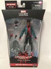 """Marvel Legends 2020 Spider-Verse Miles Morales Stilt-Man Baf 6"""" Figure In Hand"""