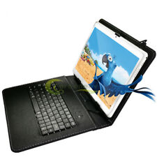 Android 8 Quad Core 10 Inch HD Game Tablet Computer PC GPS Wifi Bundle Keyboard