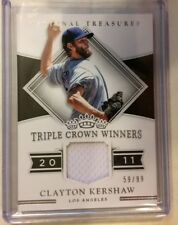 CLAYTON KERSHAW 59/99 Jersey Game Used 2017 National Treasures DODGERS
