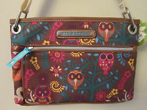 NEW Lily Bloom Purse Owl Print Whimsical Woods NWT Amanda Crossbody Karma Bloom