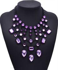 New Women Luxury Stone Cluster Choker Chain Maxi Statement Bib Necklace Jewelry