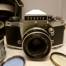 Exakta VX1000 35mm Film Camera w/C.Z. Tessar 50mm/2.8 & Extension Tube Set MINT