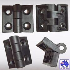4pcs Plastic Hinge Bearing Butt Household 2-leaf 50x45mm Door Black TNDOR5559x4