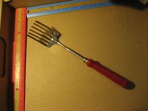 Vintage Foley Fork MPLS Stainless Red Wood Handle Whisk Mash Mix