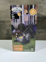 AIRBLOWN INFLATABLE-BLACK CAT 4FT 1.22M/ LIGHTS UP. INDOOR AND OUTDOOR USE:LED