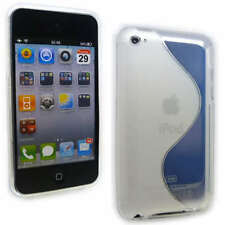Clear DuoTone Jelly Case Cover for iPod Touch 4 Gen +SP