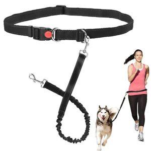 Hands Free Dog Lead Walking Belt Ajustable Running Lead Waist Belt Pet Leash